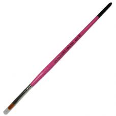 Pincel 4 Flat Gel Brush Pink